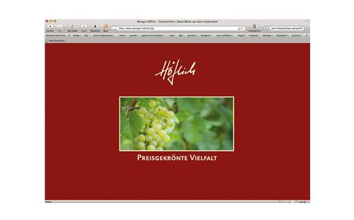 Weingut HÖFLICH Webseite