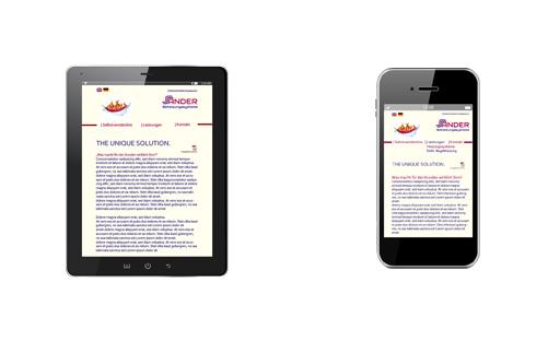 SANDER Mobile Webseite