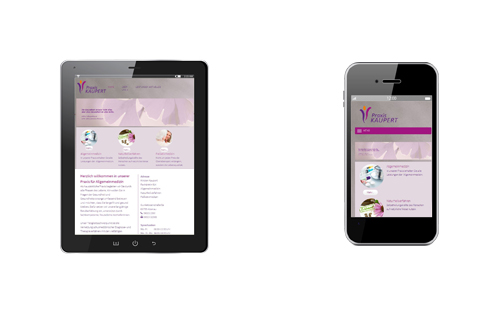 Praxis KAUPERT Mobile Webseite