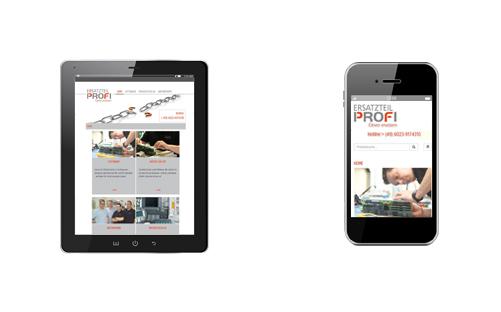 Ersatzteilprofi Mobile Webseite